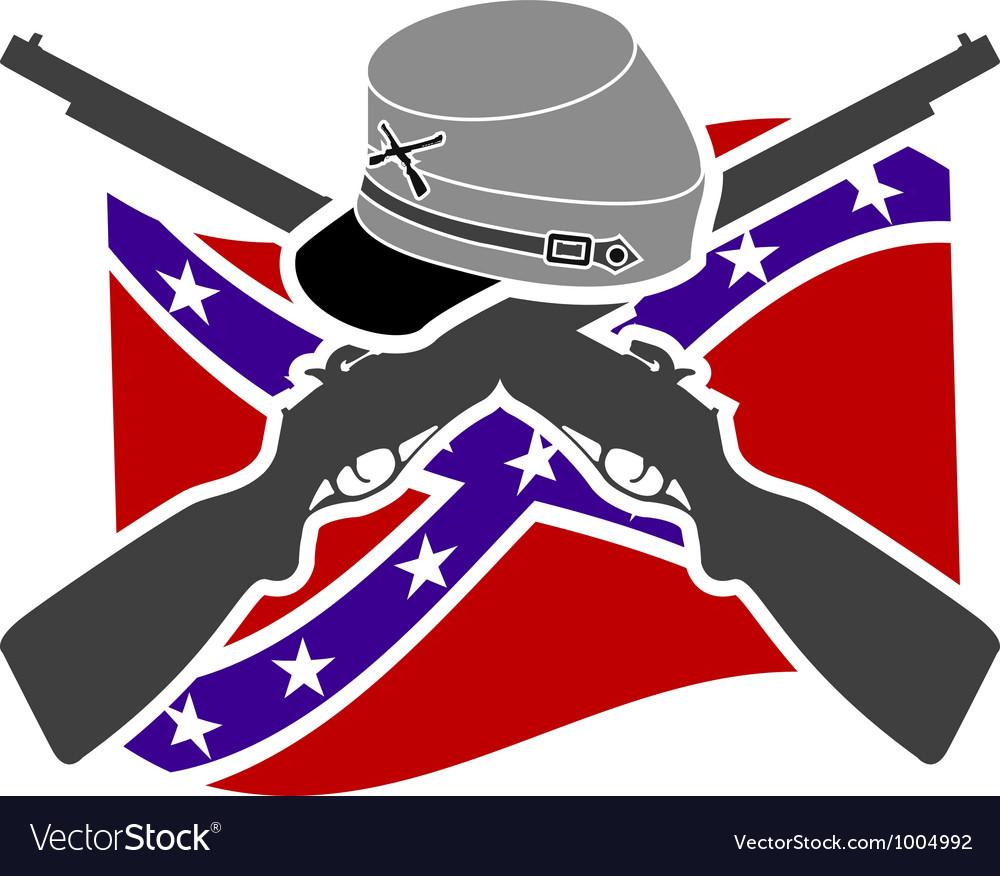 American civil war confederacy vector
