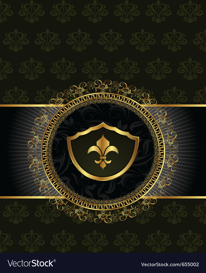 Cute background with heraldic element - vector