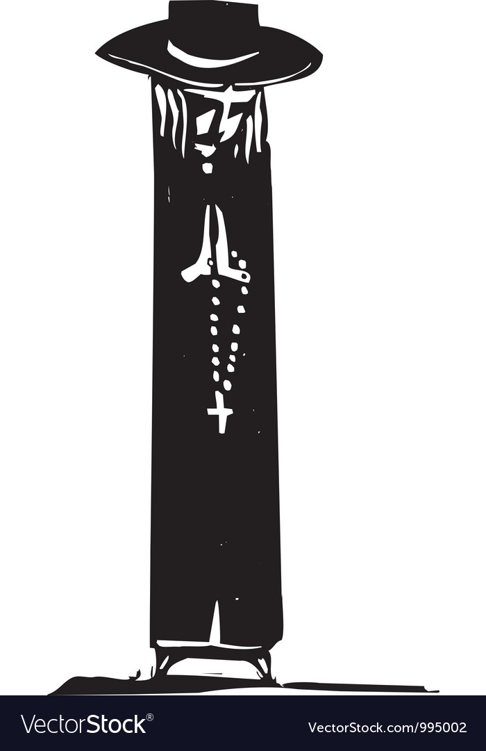 Rosary prayer vector