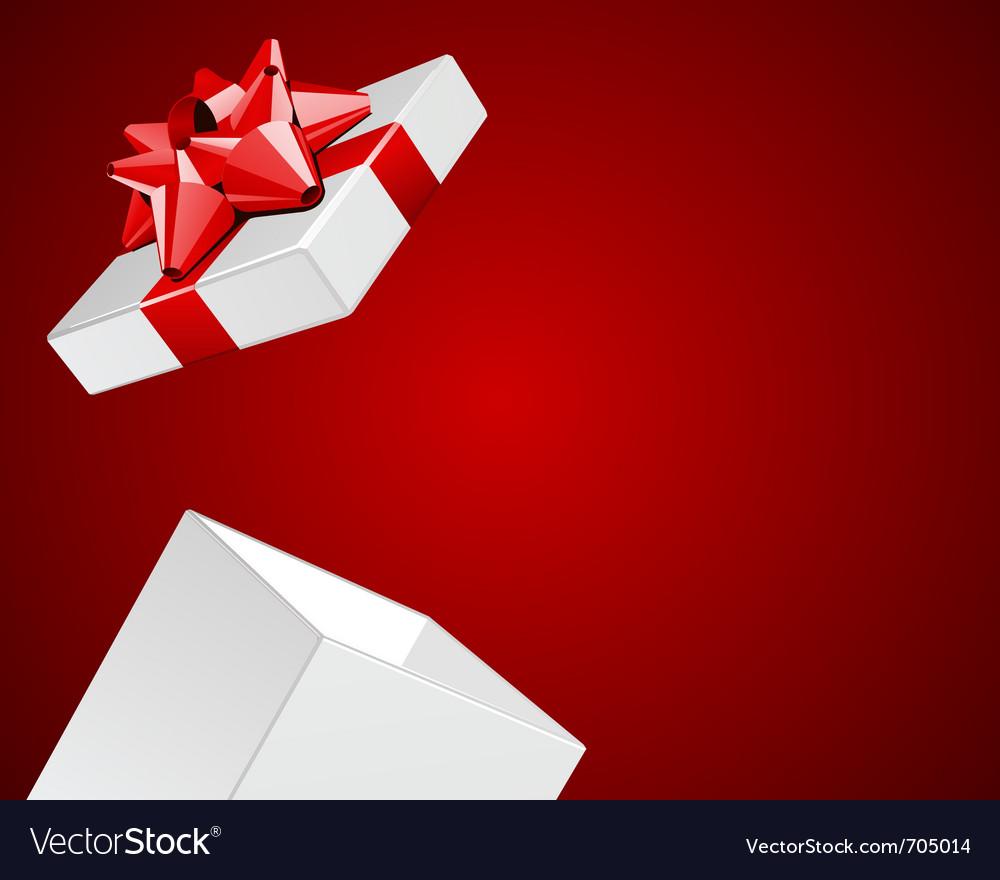 Open gift present vector