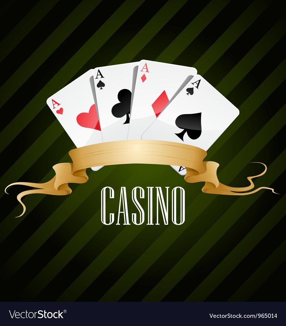 Poker poster casino vector