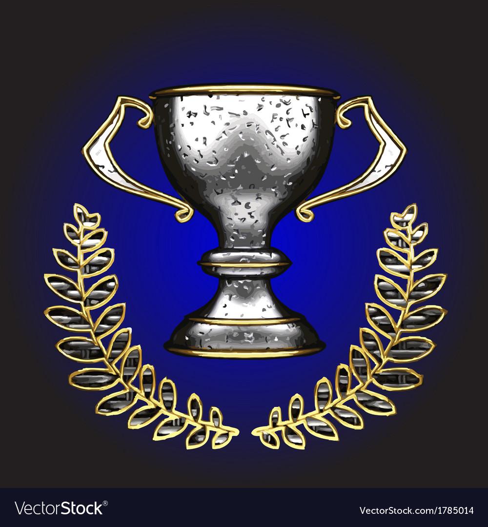Silver award vector