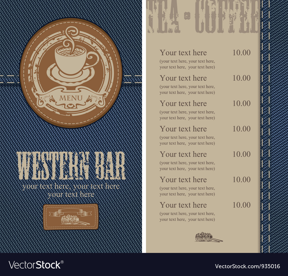 Jeans cafe vector