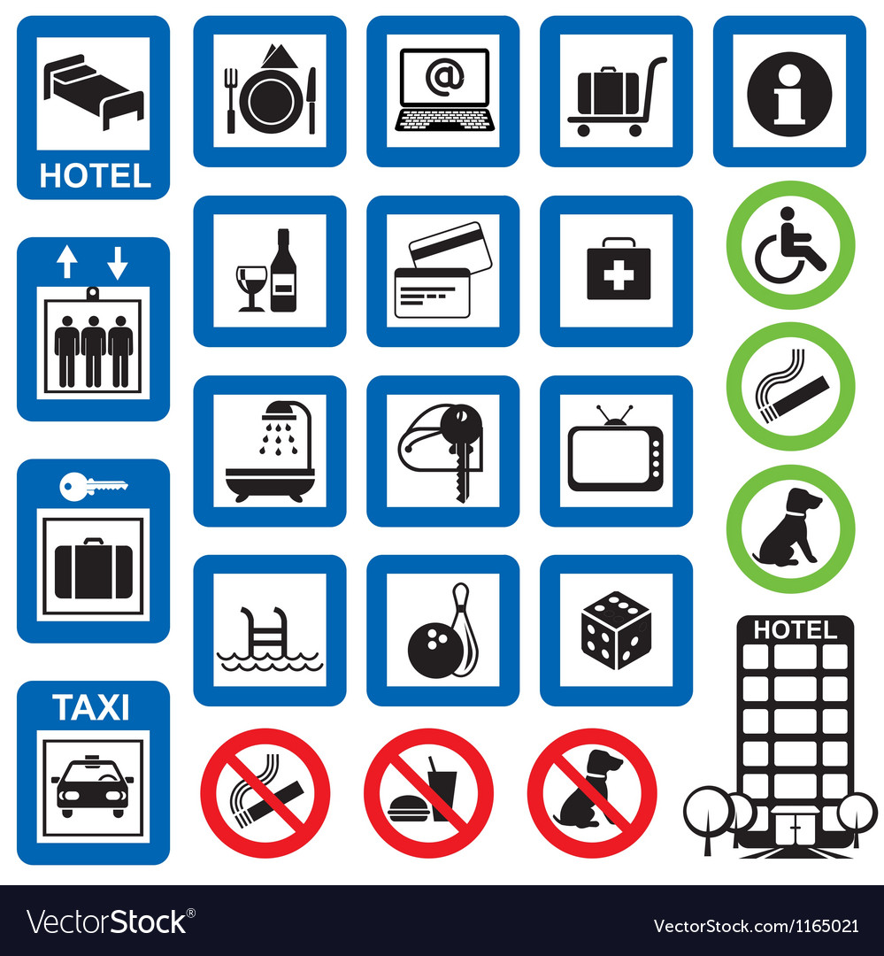 Icons hotel vector