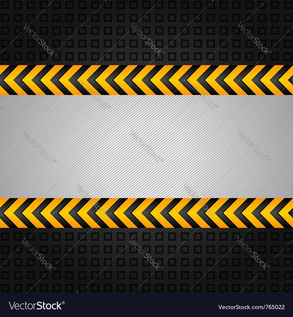 Construction warning background vector
