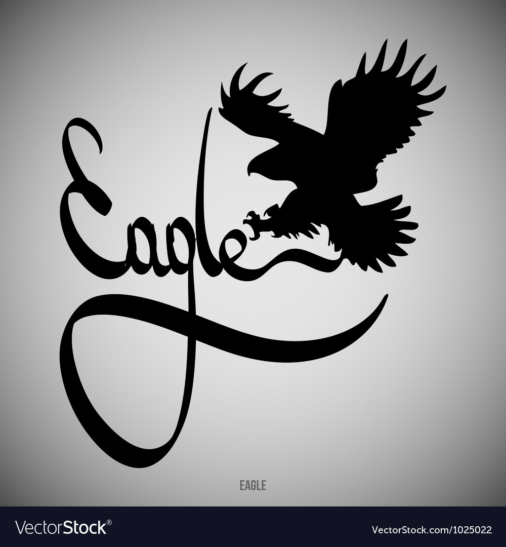 Eagle calligraphic elements vector
