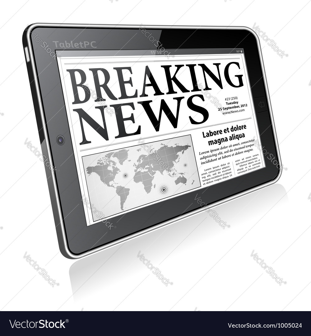 Concept - digital breaking news vector