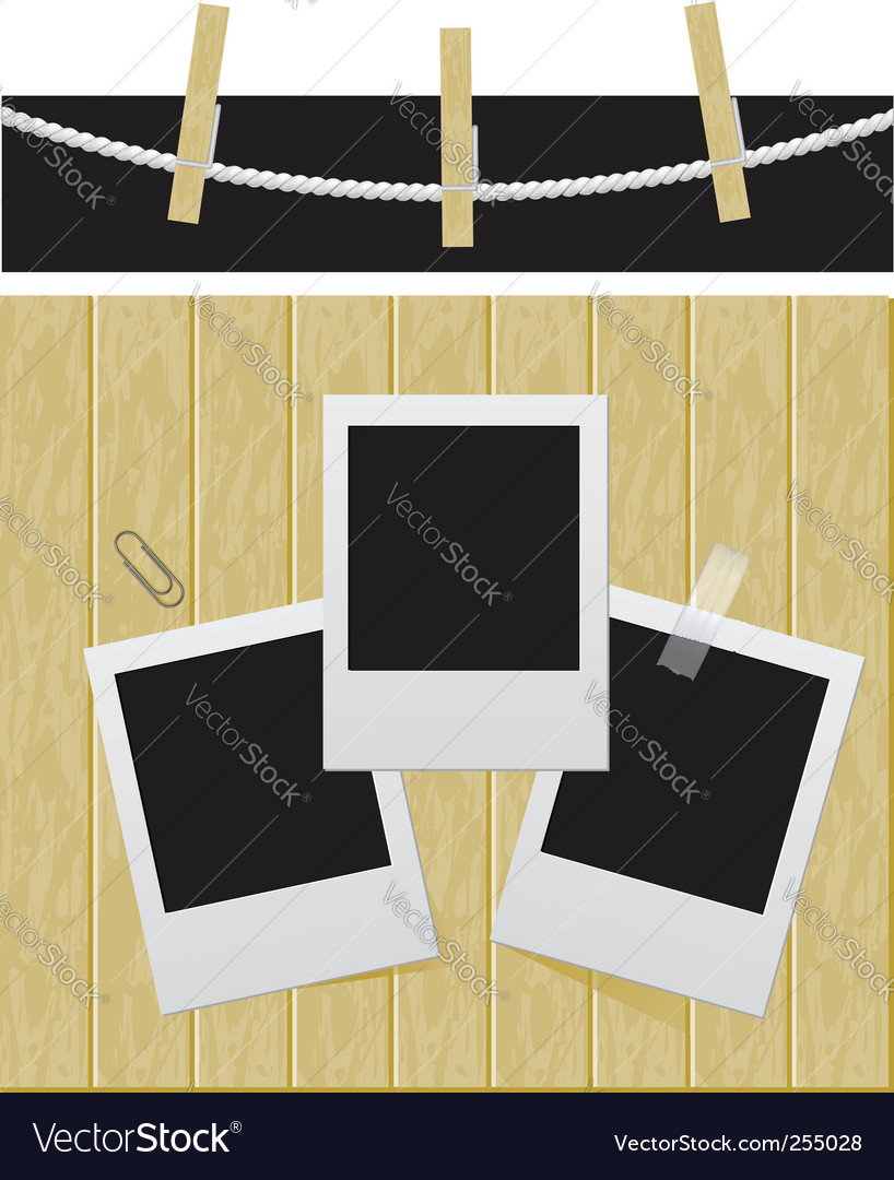 Photo set illustration vector