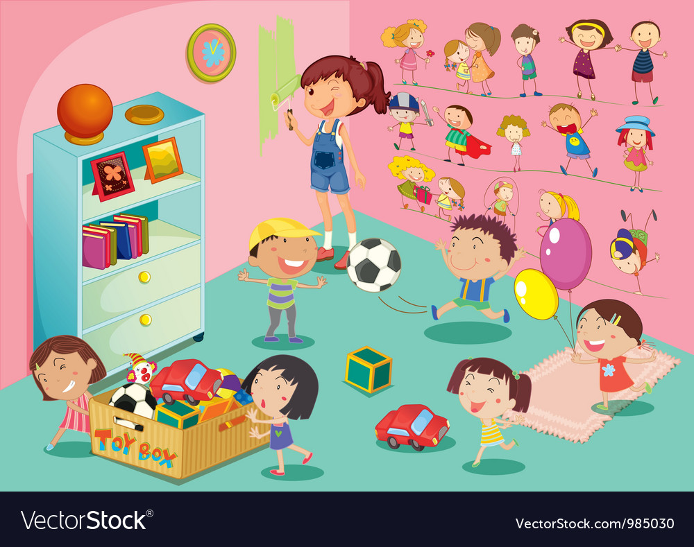 Kids playroom vector