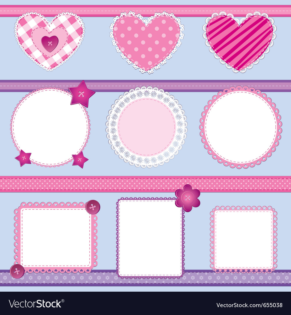 Scrapbook elements set vector
