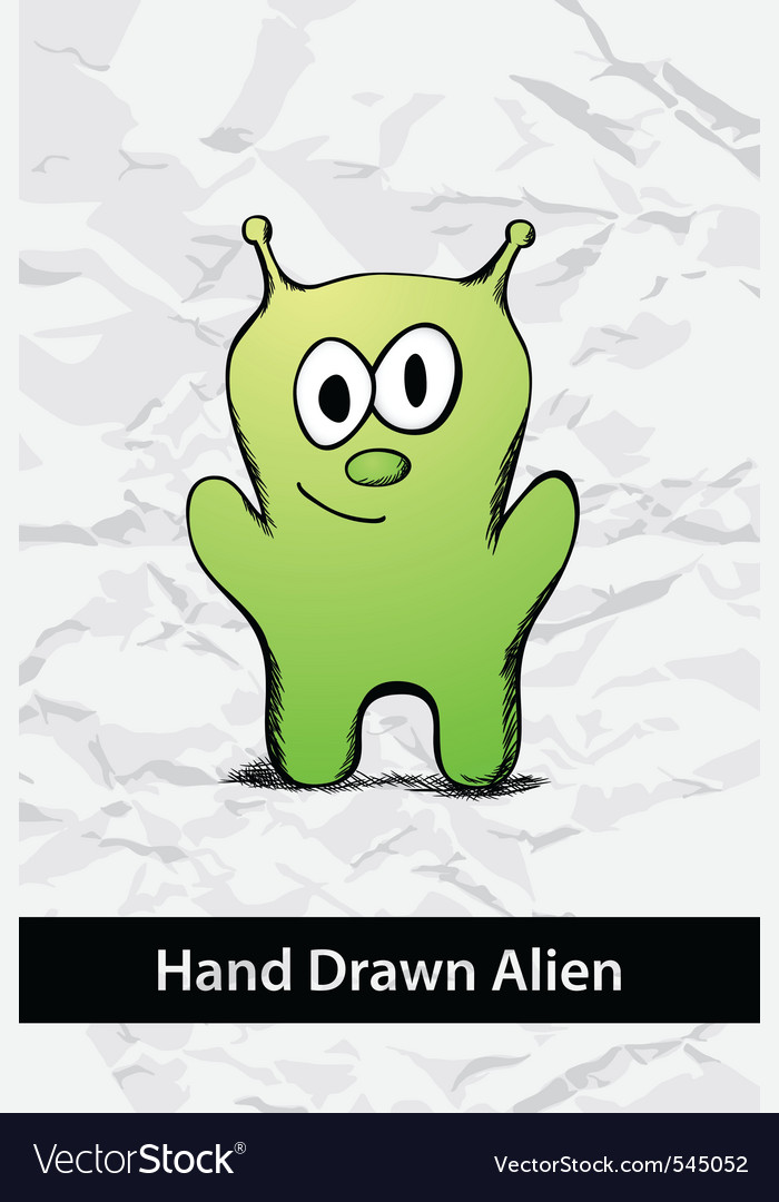 Cartoon alien vector