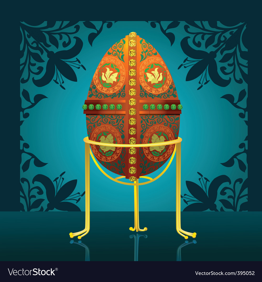 Easter real egg vector