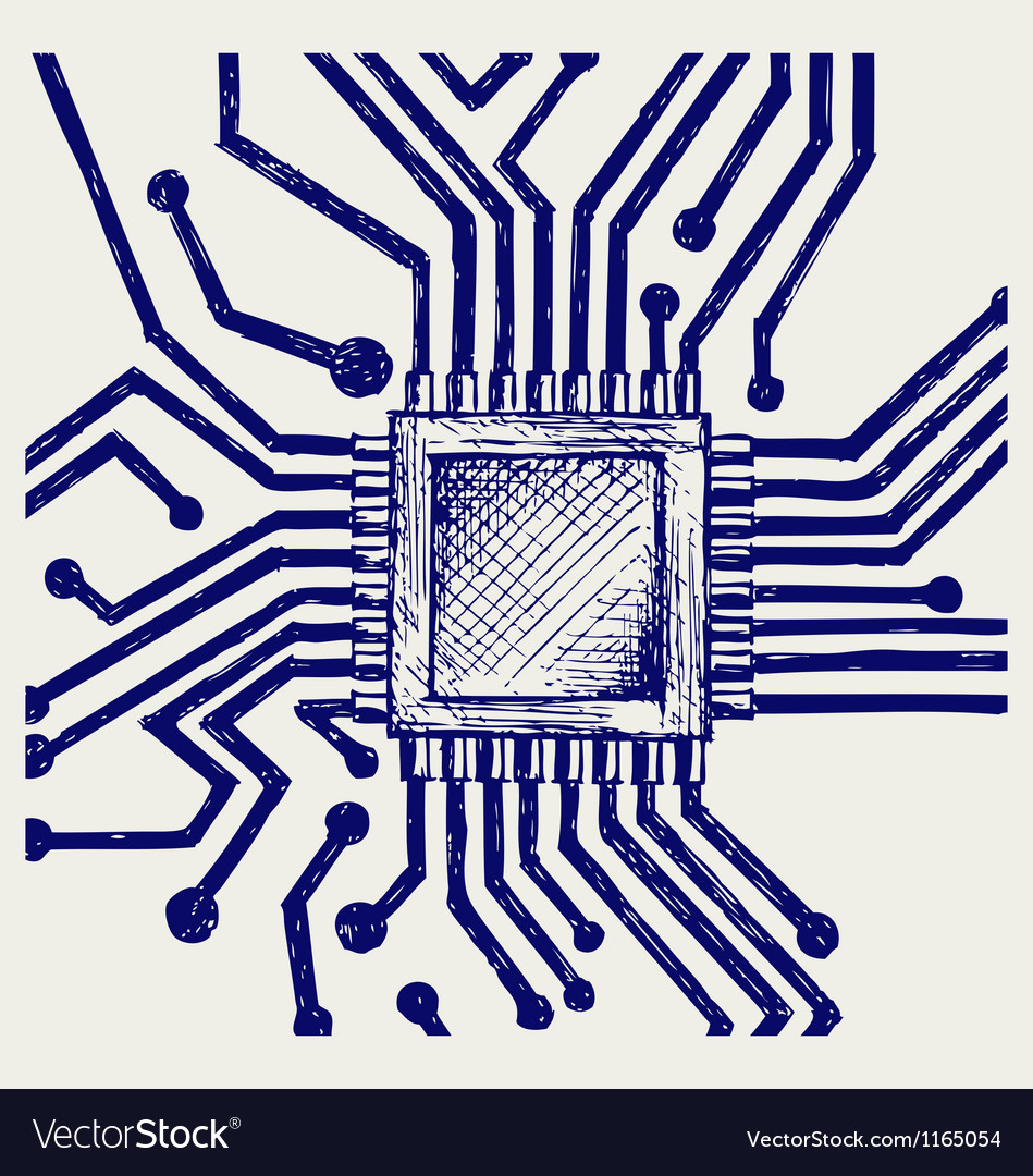 Motherboard with microchip vector