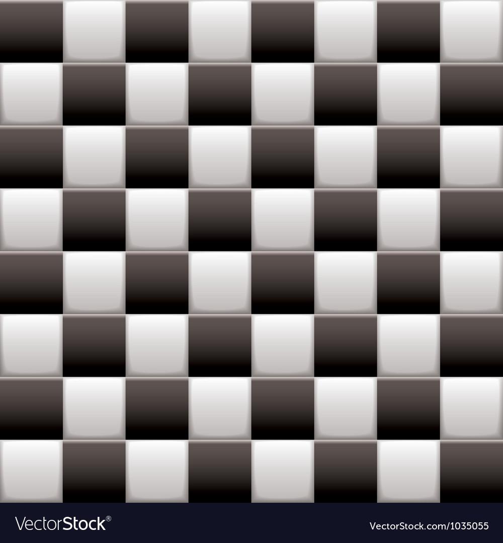 Checkered black n white vector