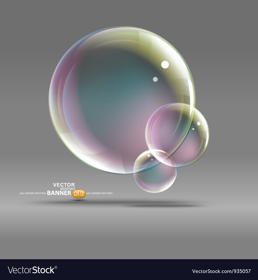 Bubble graphic vector