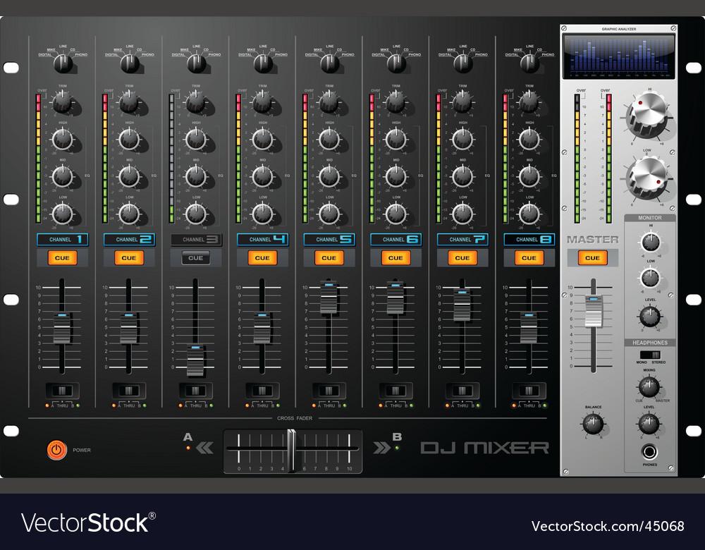 Dj mixer vector