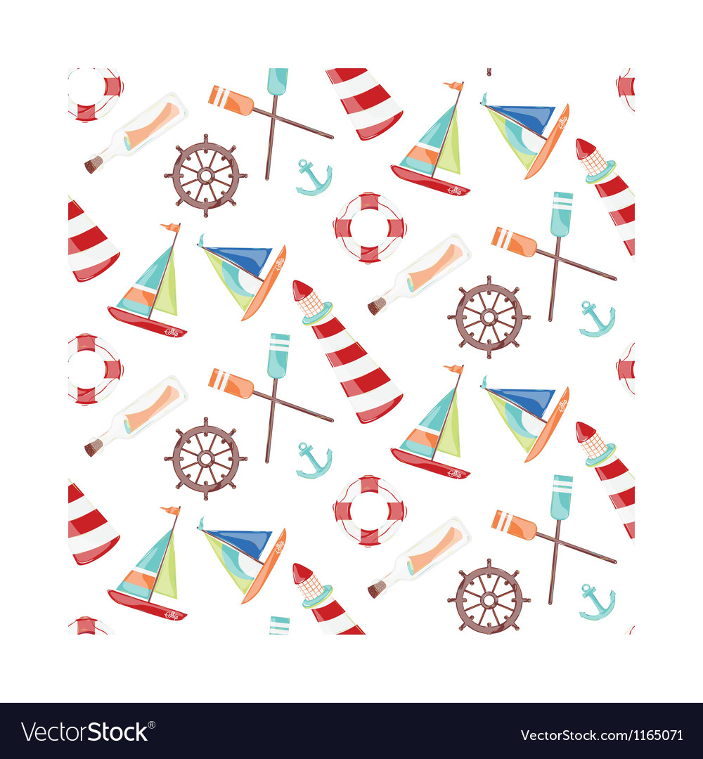 Pattern ships vector