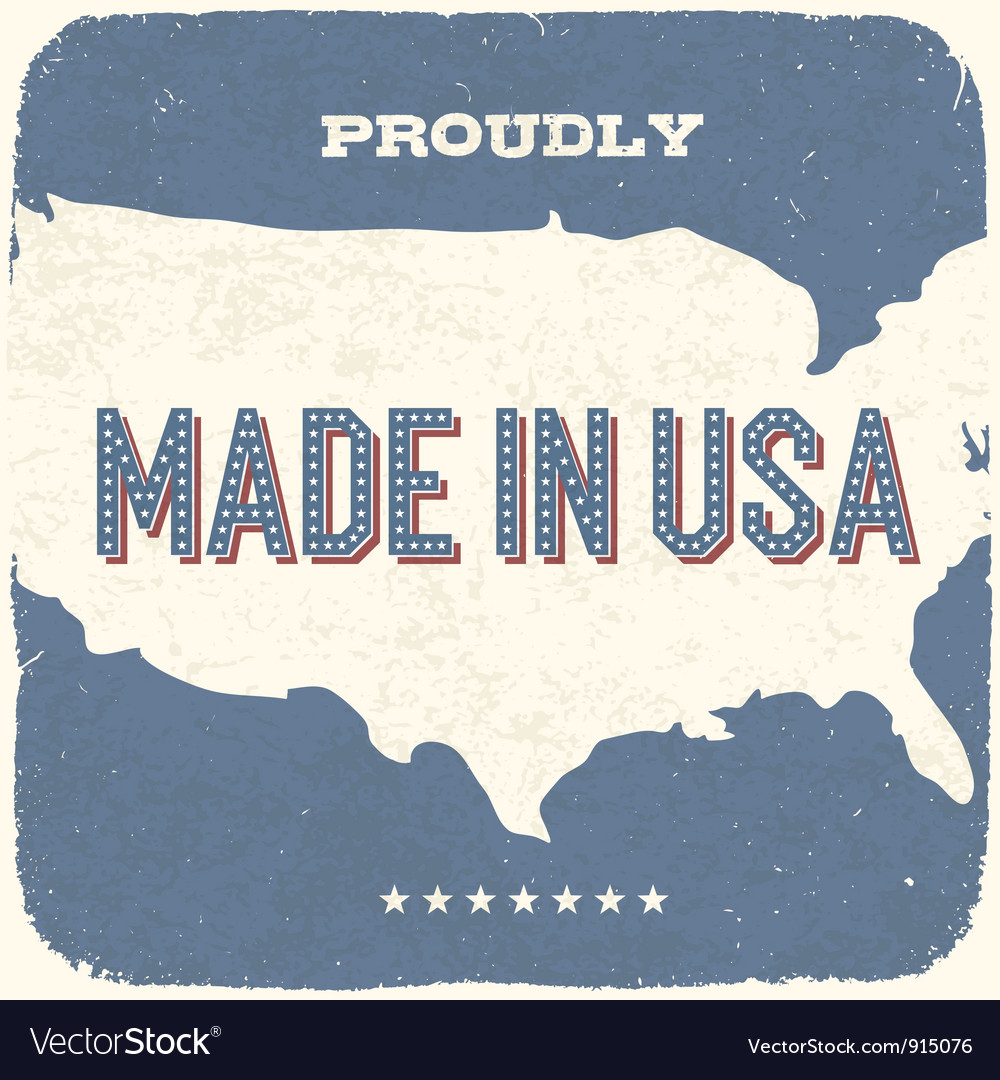 Proudly made in the usa vector