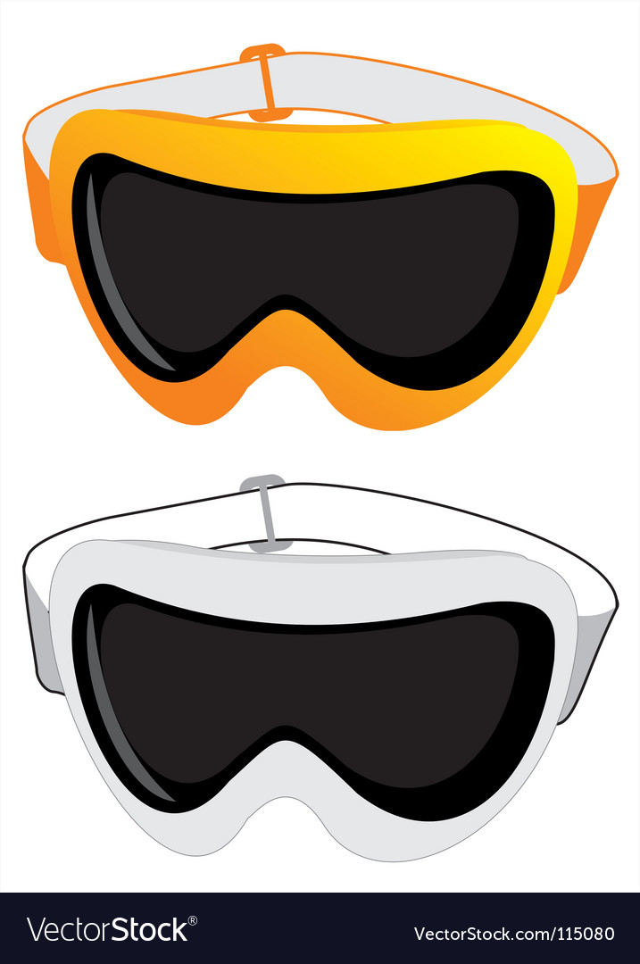 Ski glasses vector