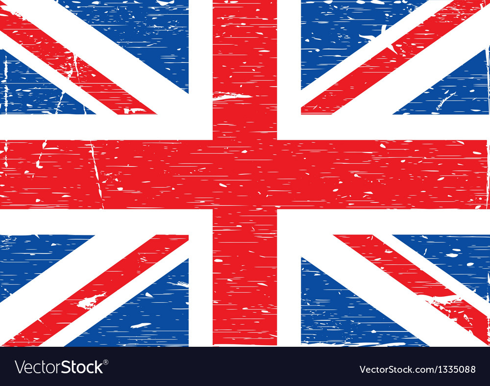 British flag grunge vector