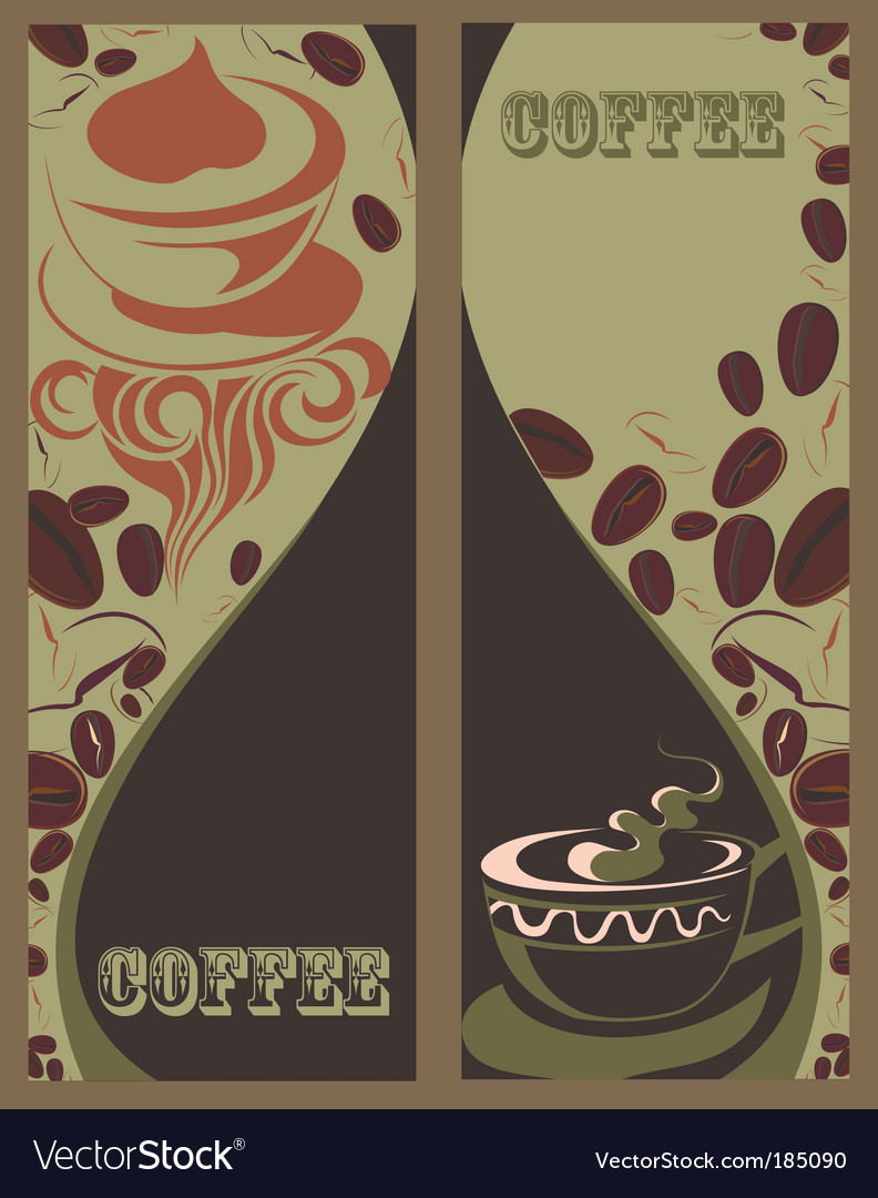 banner with coffee cups vector