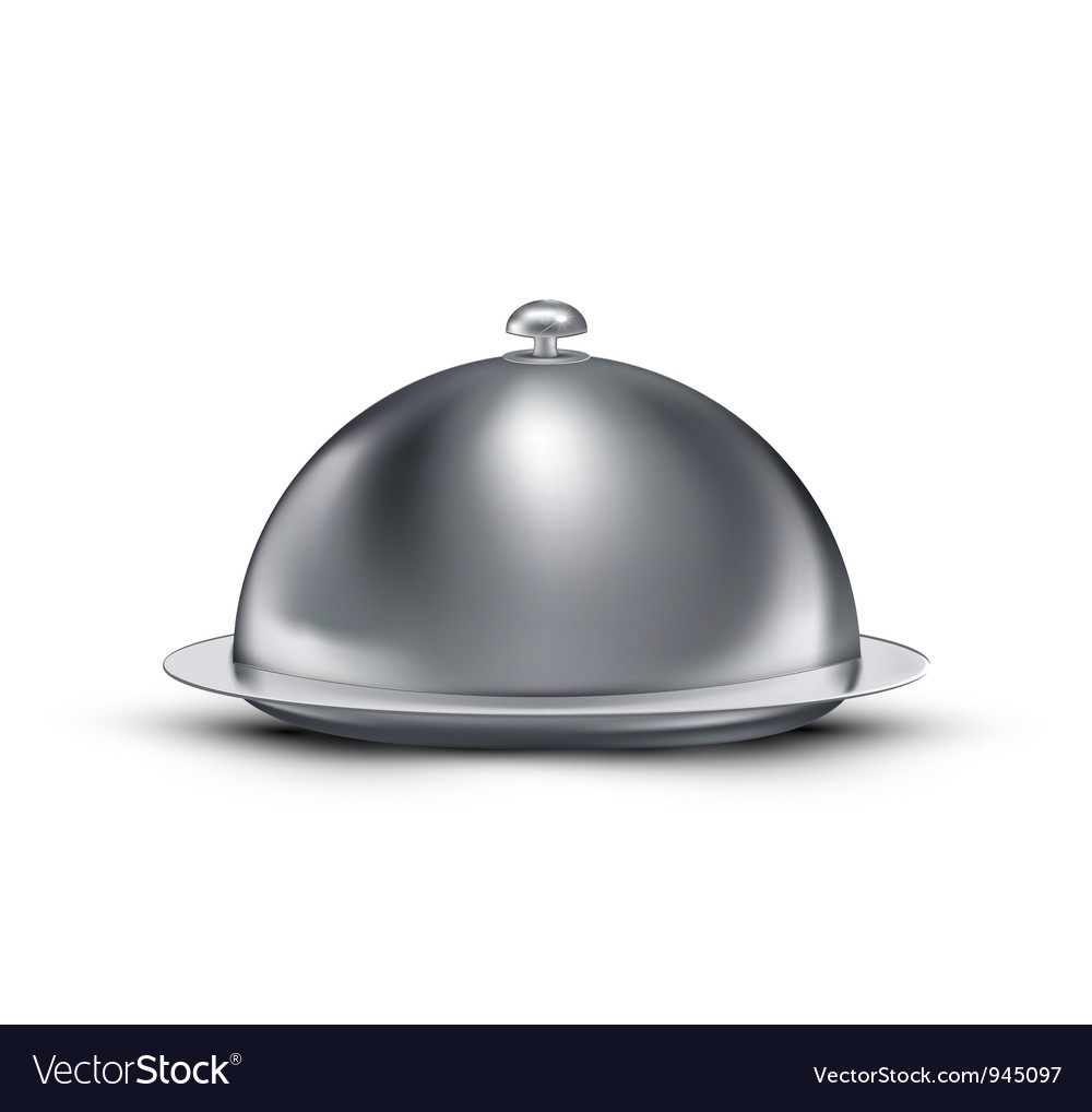 Chrome catering tray vector
