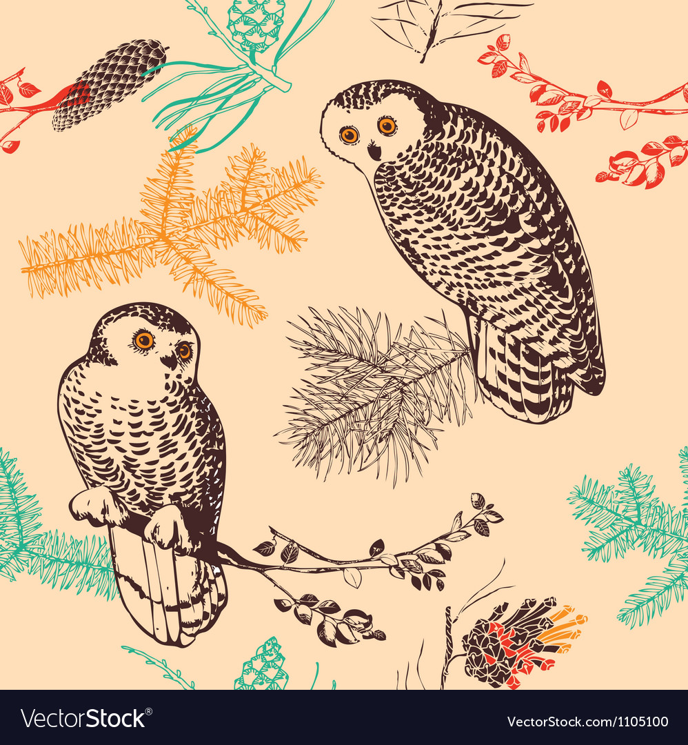 Vintage animal patterns vector