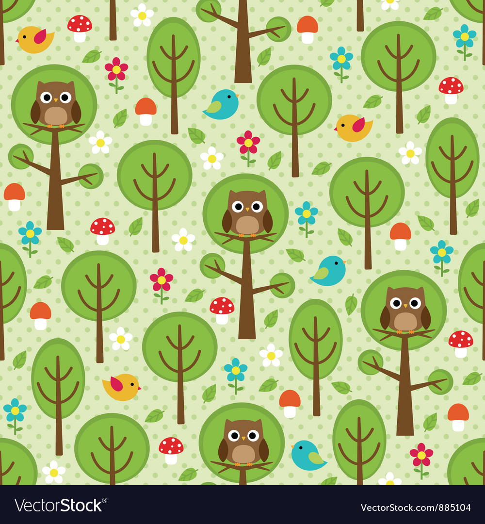 Forest seamless vector