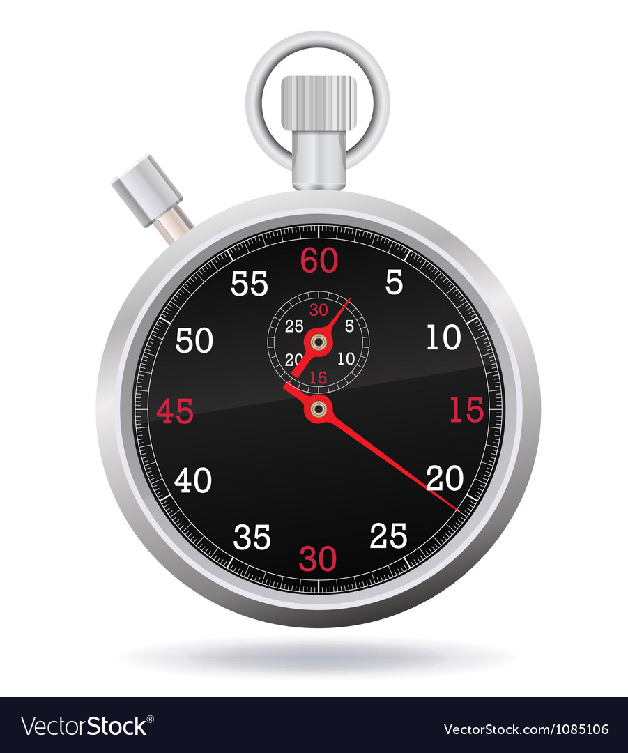 Retro mechanic chromed stopwatch vector