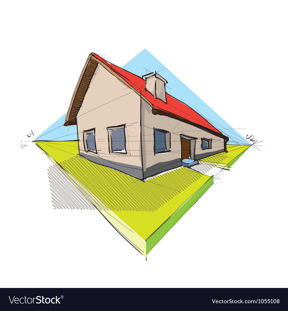 Architectural house vector
