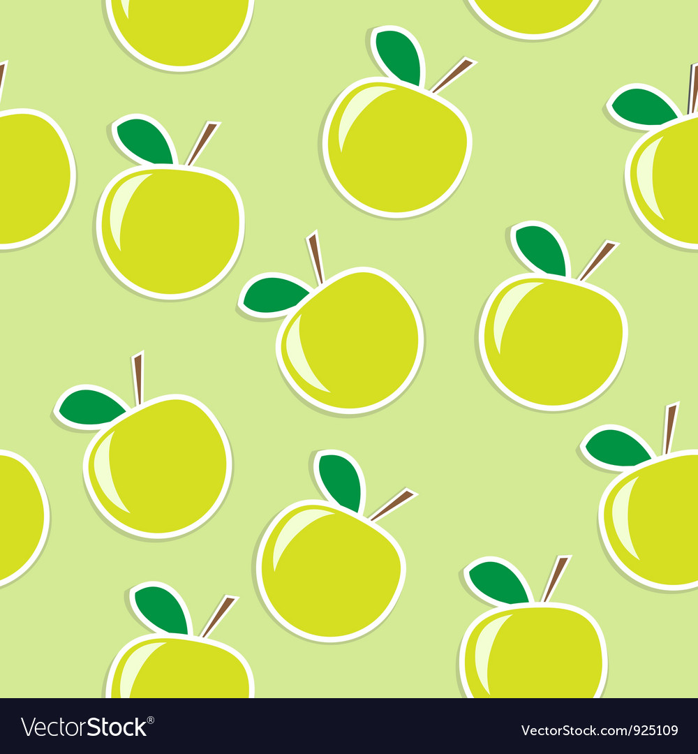 Apple seamless background vector