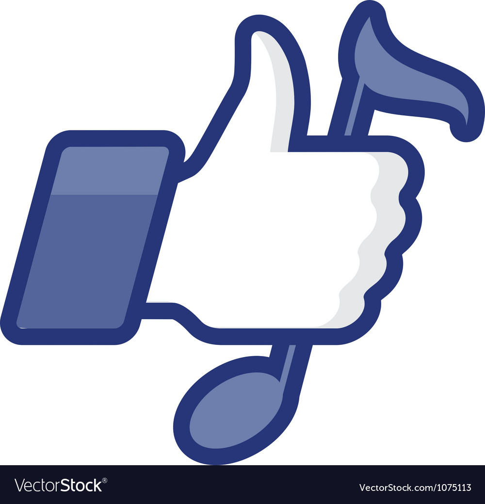 Thumbs up icon with note vector