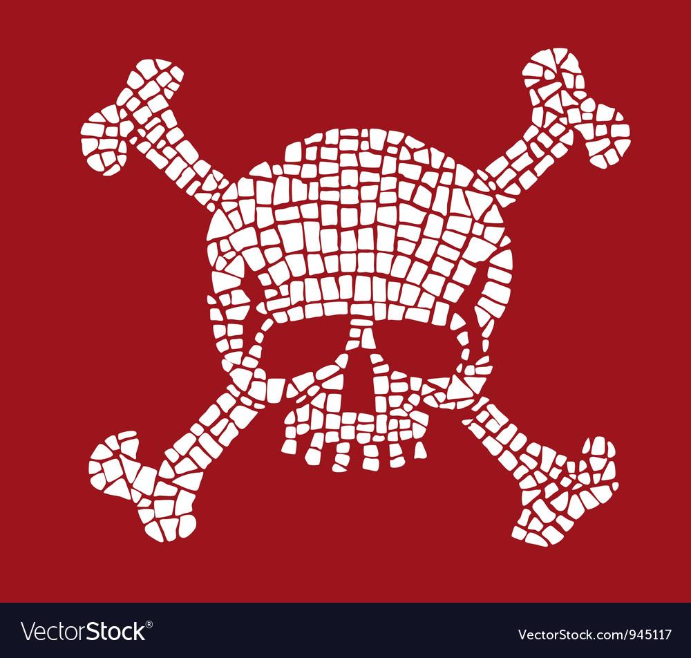 Skull mosaic vector
