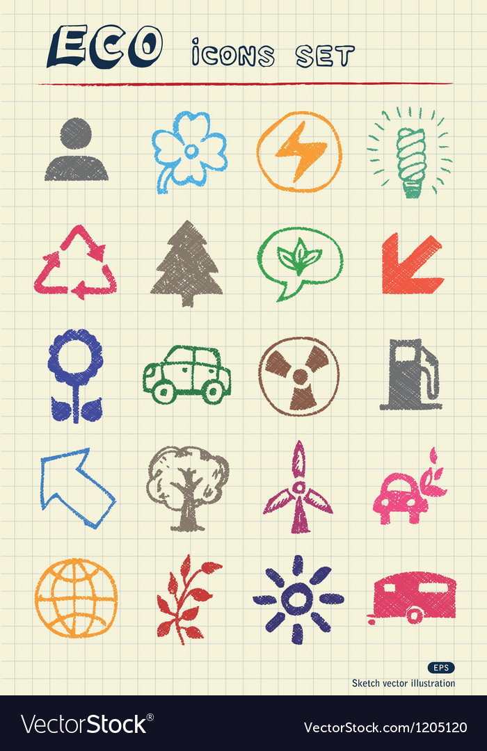 Ecology and nature web icons set vector
