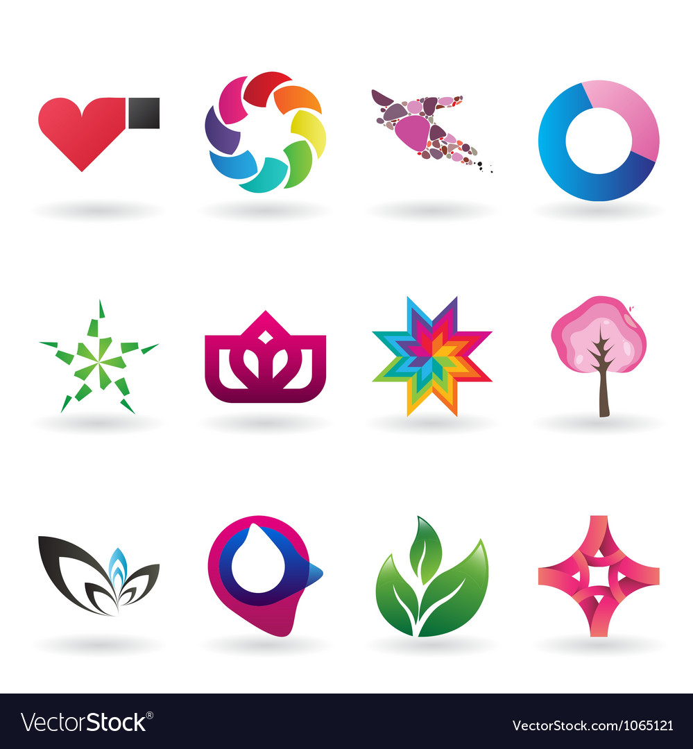 Colorful collection of corporate identity elements vector