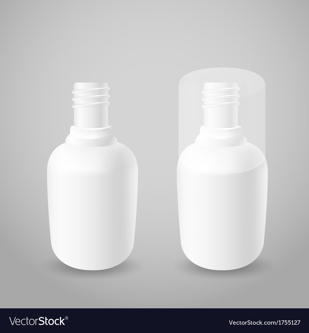 White plastic bottles vector