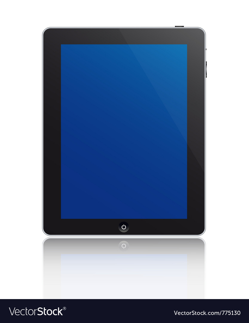 Touchscreen tablet vector