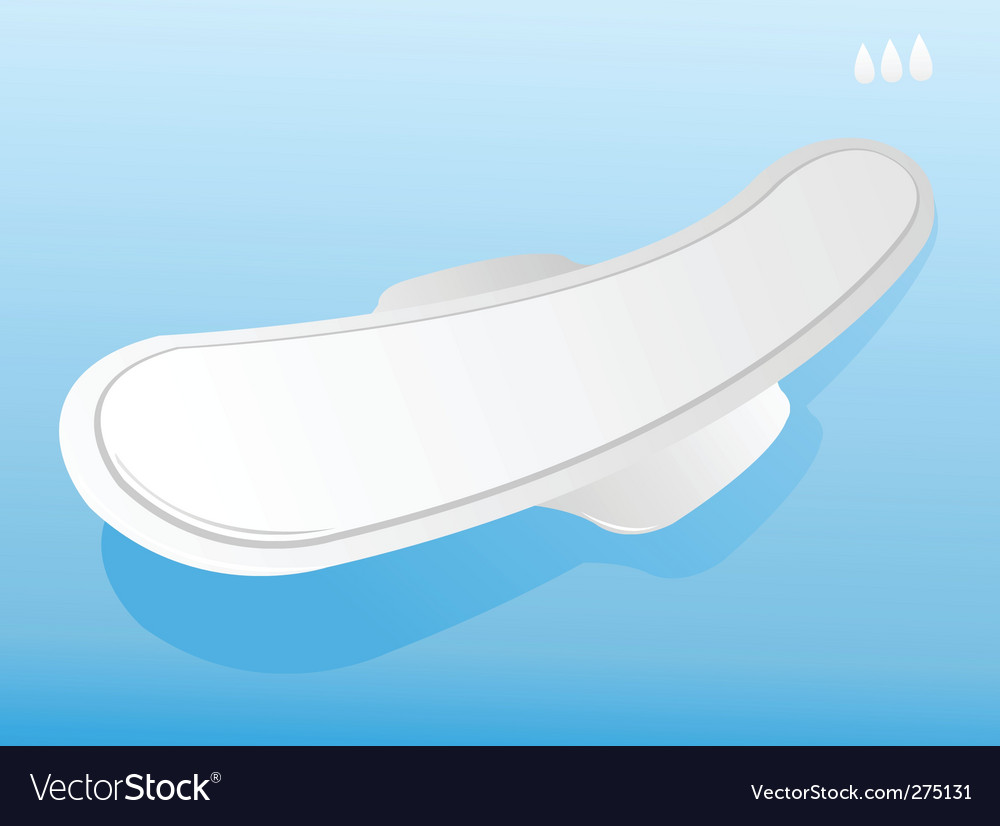 illustration of sanitary napkin vector
