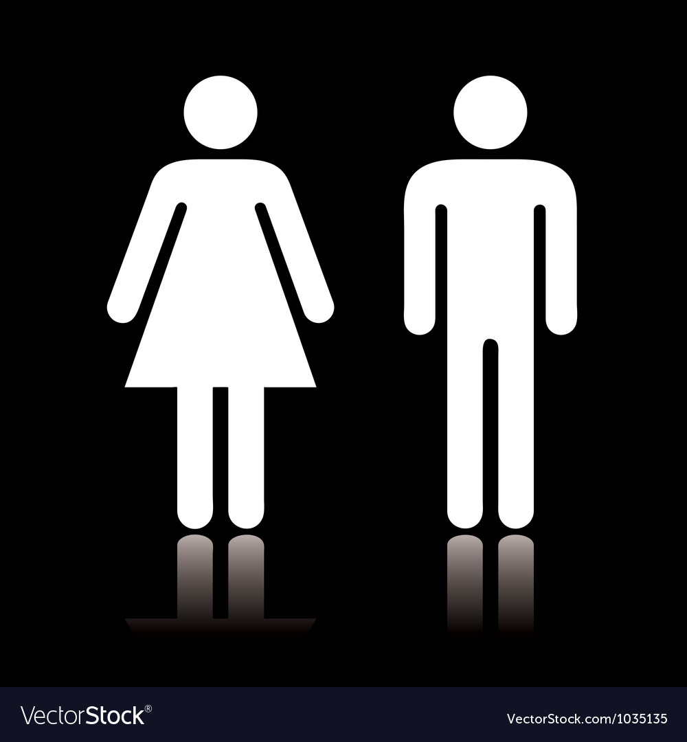 Toilet icon negative vector