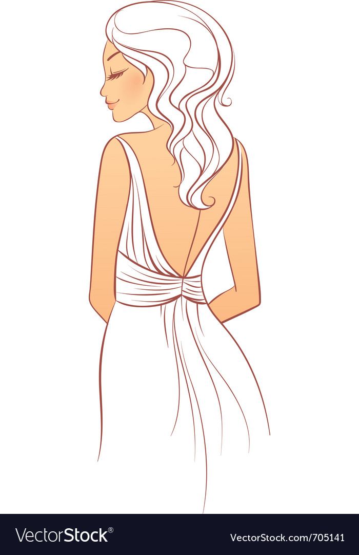 Back dress vector