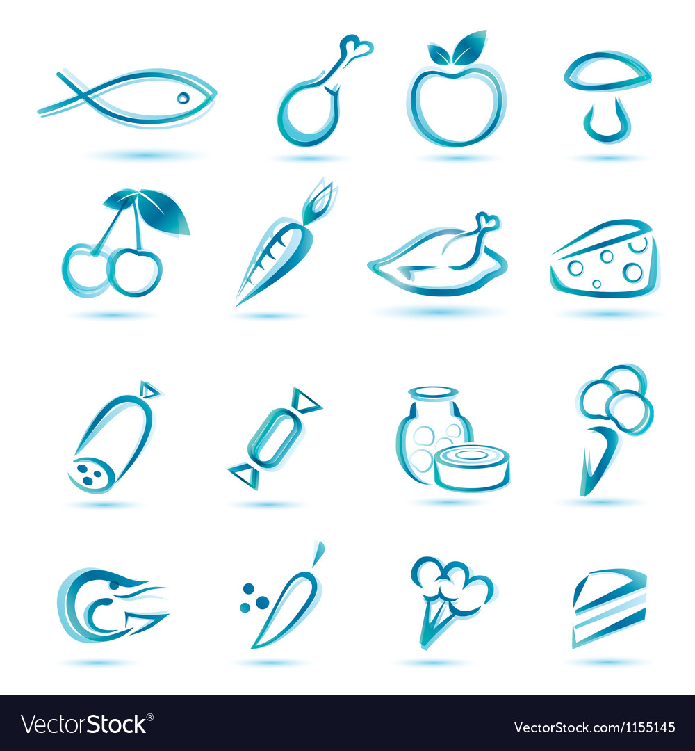 All food icons vector