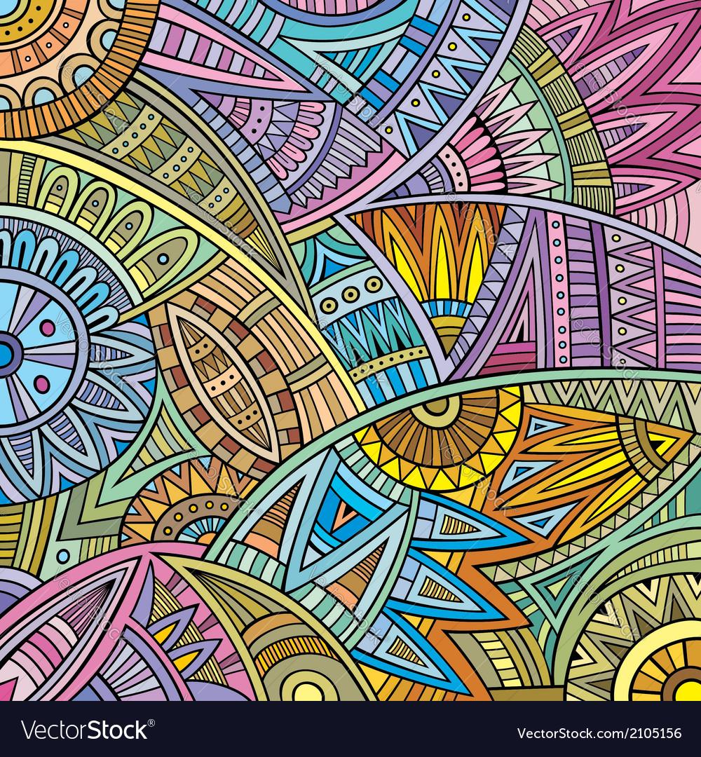 Abstract tribal ethnic pattern vector art - Download vectors - 2105156