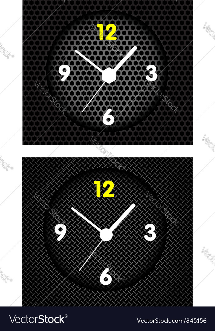 Modern metal clock vector