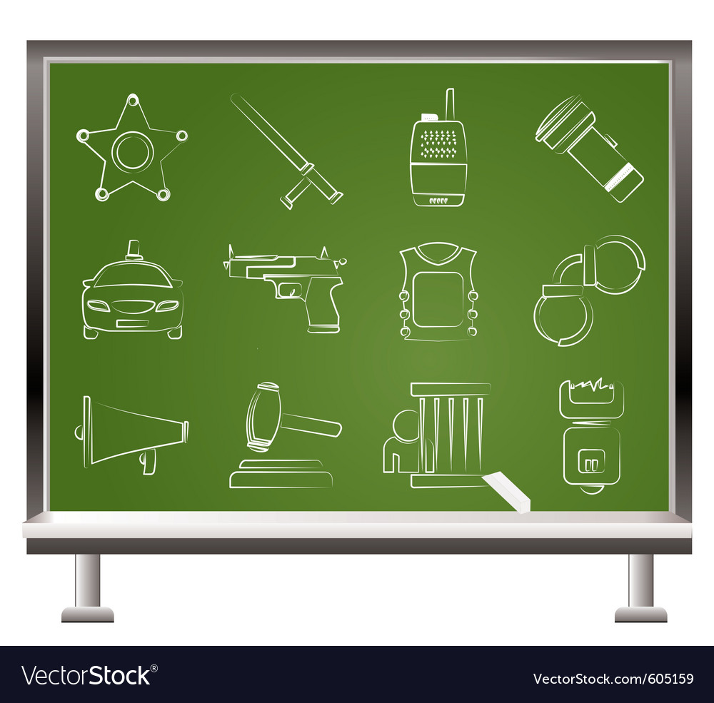 Law and crime icons vector