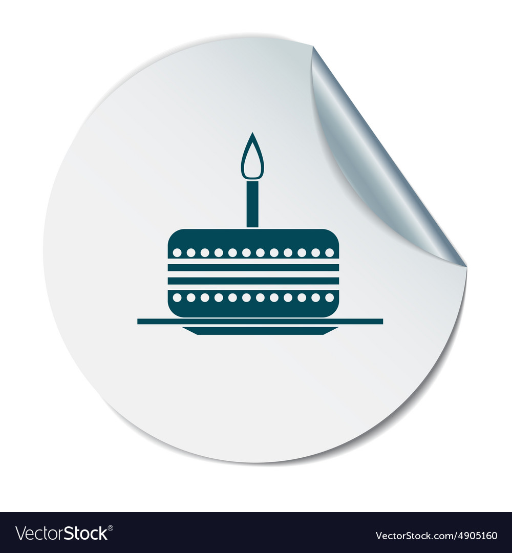 Birthday cake icon vector by Little_cuckoo - Image #4905160 ...