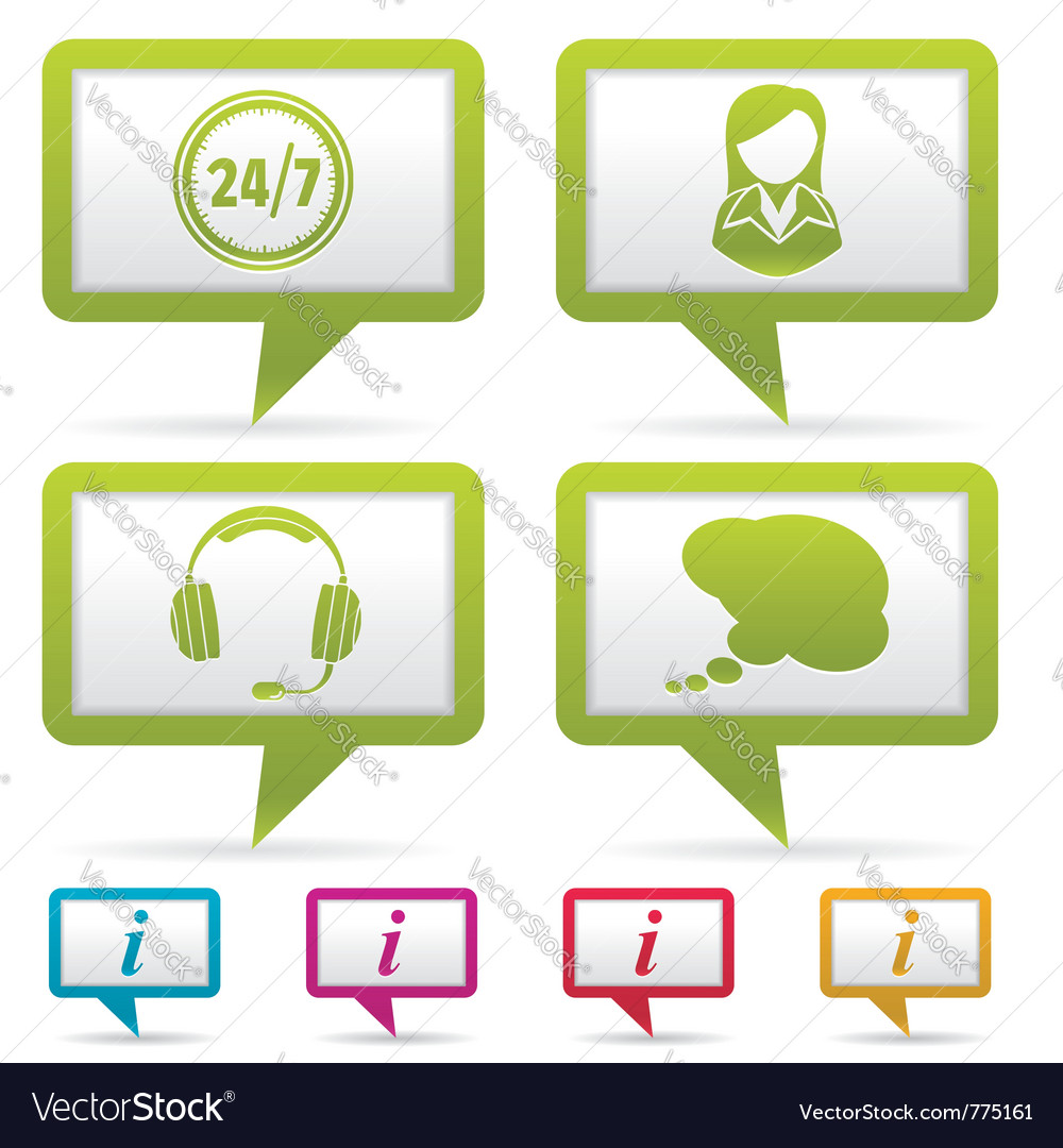 Collect business web icons vector