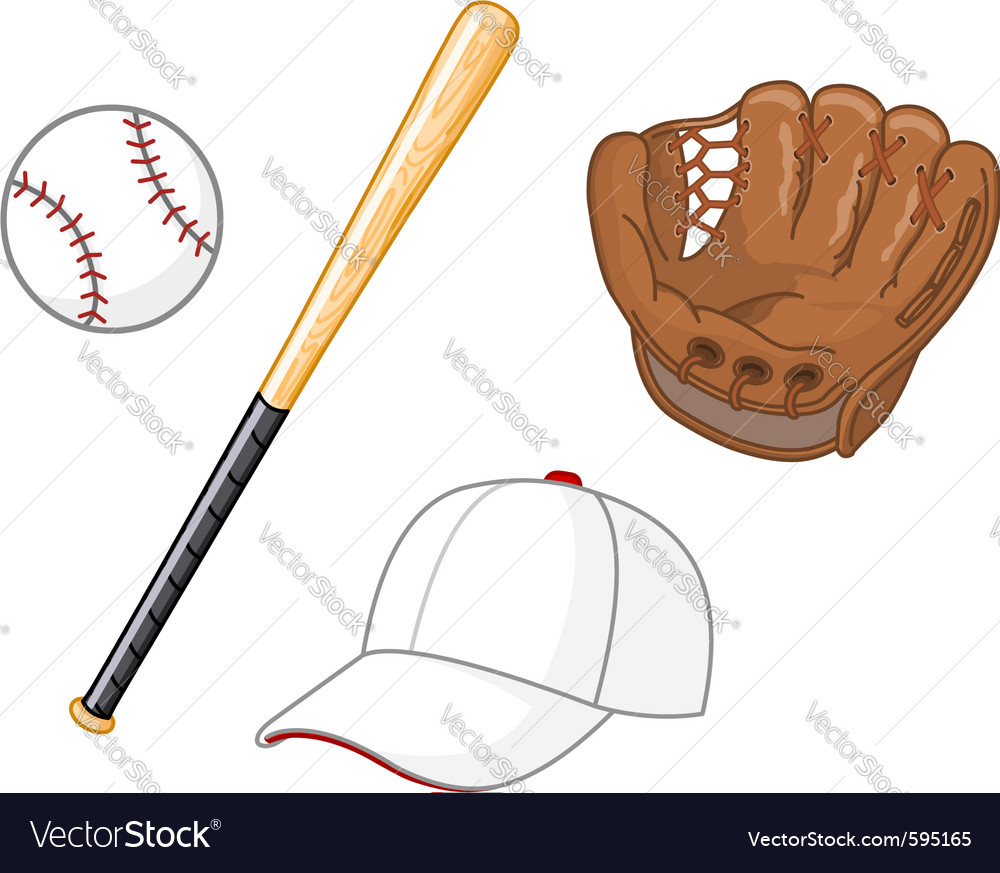 Baseball elements vector