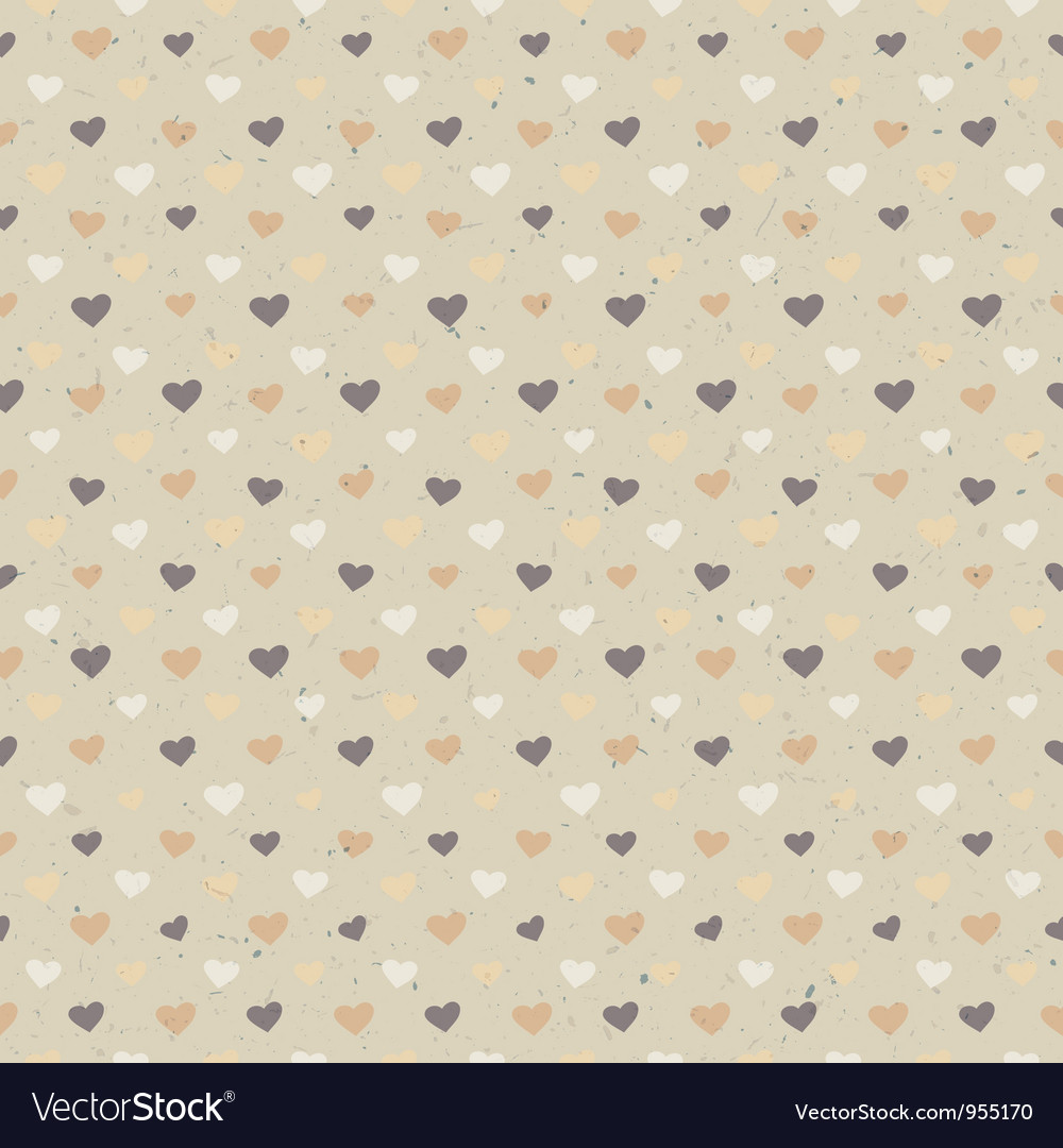 Free seamless hearts pattern vector
