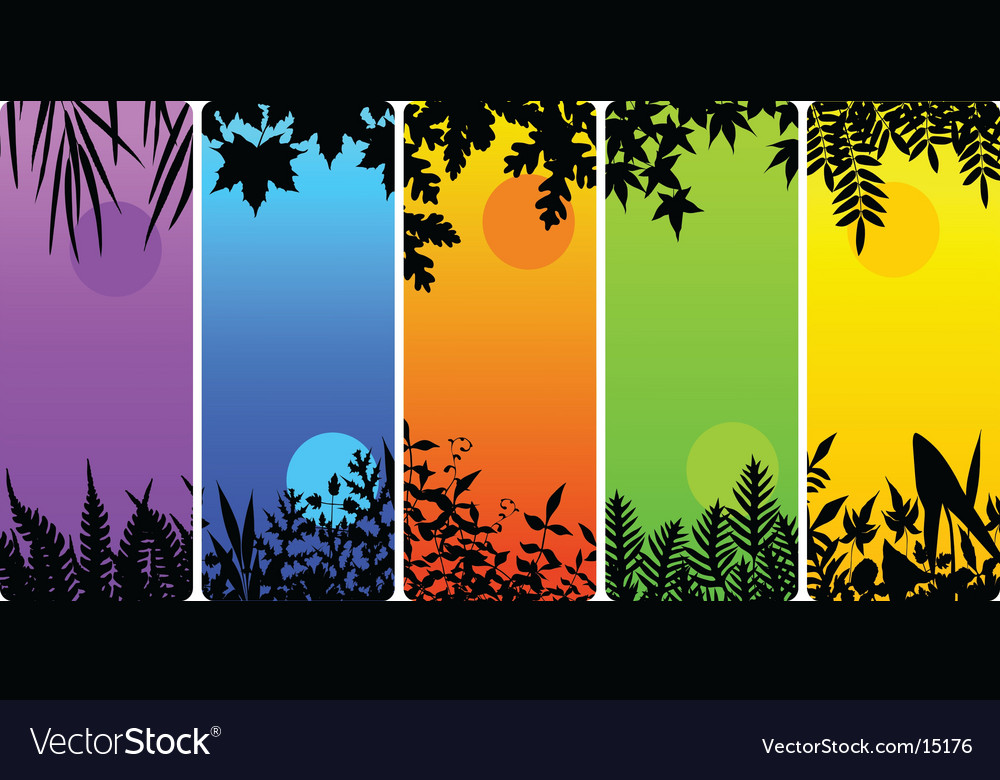 Leafy bookmarks vector