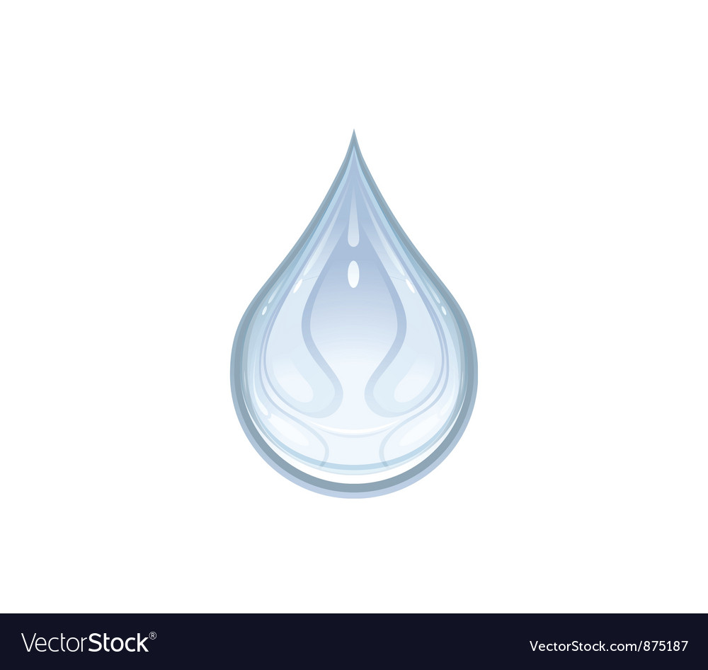A water drop vector
